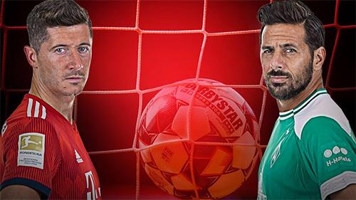 Lewandowski (trái) mới 30 tuổi và vẫn giữ vai trò chủ lực của Bayern. Việc anh vượt qua Pizarro - người chỉ là một phương án dự bị ở Bremen - để độc chiếm kỷ lục chỉ là vấn đề thời gian.