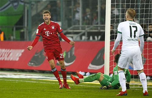Muller ghi bàn trở lại là tín hiệu vui cho Bayern khi họ bước vào giai đoạn quan trọng nhất mùa giải, cả ở Bundesliga lẫn Champions League. Ảnh: FCB.