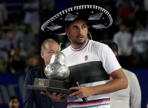 Nick Kyrgios tăng 42 bậc nhờ danh hiệu tại Mexico. Ảnh:Reuters.