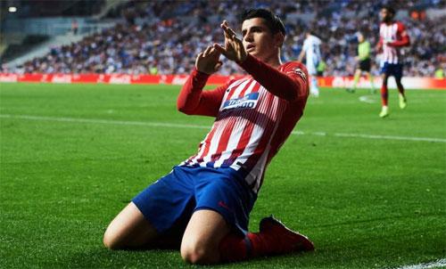 Morata bắt đầu tạo được lòng tin với CĐV Atletico. Ảnh: Reuters