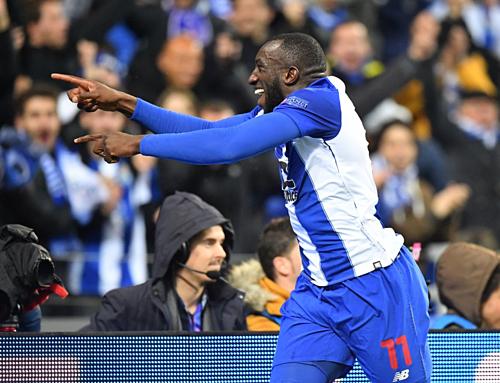 Marega đang có phong độ cao bậc nhất ở Champions League mùa này. Ảnh:AFP.