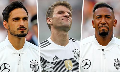 Hummels, Muller và Boateng là công thần, nhưng đã bị thất sủng vì phong độ kém cỏi cùng tuyển Đức gần đây.