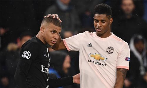 Mbappe khó nuốt trôi thất bại trước Man Utd. Ảnh: AFP.