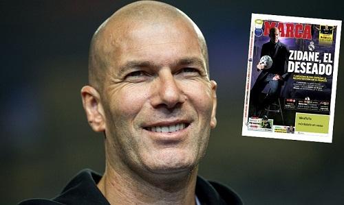 Marca đưa tin Zidane chuẩn bị trở lại Real. Ảnh: Marca.