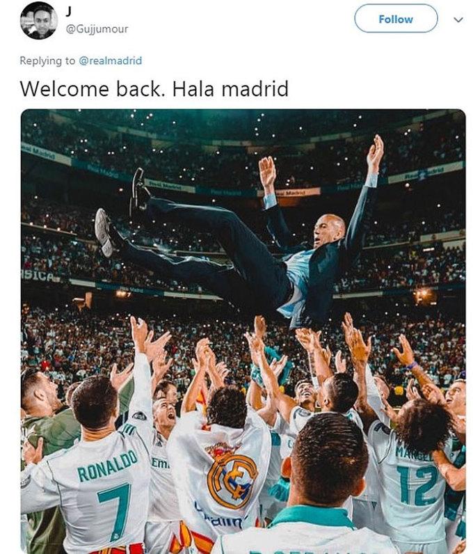 CĐV Tottenham thở phào vì Zidane trở lại Real