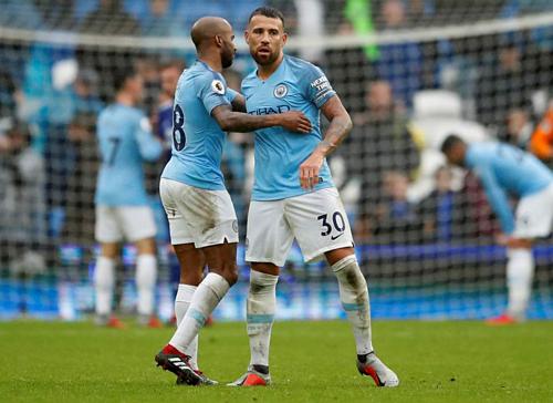 Man City sẽ vắng trung vệ trụ cột Nicolas Otamendi (30). Ảnh:Reuters.