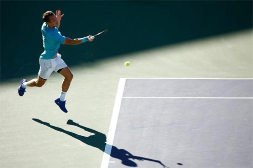 Kohlschreiber có chiến thắng thứ 24 trước một tay vợt thuộc top 10 thế giới. Ảnh: BNP Paribas Open.