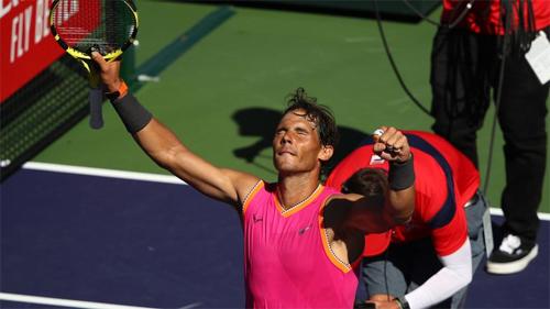 Nadal sẽ vượt Djokovic để đứng đỉnh bảng ATP Race to London (bảng thứ bậc tính riêng trong năm 2019) nếu vô địch Indian Wells. Ảnh: Sky.