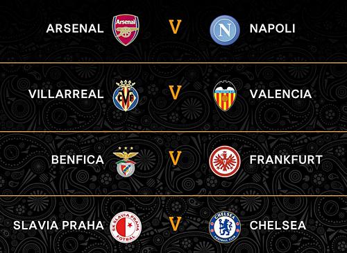 Arsenal đụng độ Napoli ở tứ kết Europa League - 1