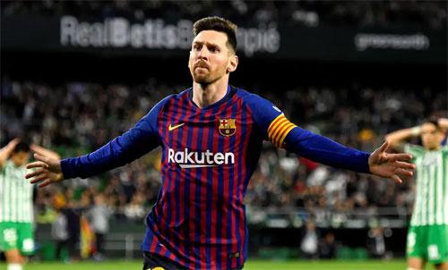 Messi giúp Barca thắng 4-1 trên sân đối phương. Ảnh: Reuters