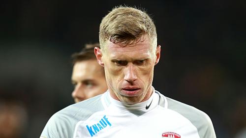 Pogrebnyak chơi 33 trận ghi tám bàn cho tuyển Nga. Ảnh:AFP.