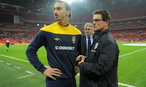 Ibrahimovic thời còn làm việc cùng Capello ở Juventus. Ảnh: AFP.