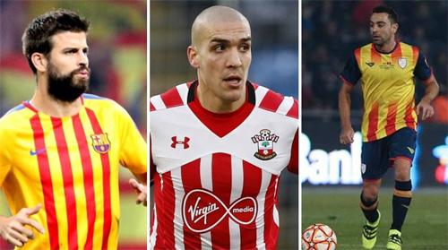 Pique, Romeu và Xavi sẽ chơi cho tuyển Catalonia.