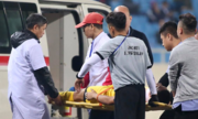 Cầu thủ Brunei nhập viện cấp cứu