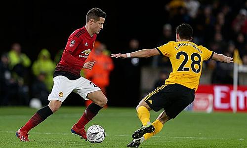 Herrera chơi 186 trận cho Man Utd kể từ khi gia nhập từ Athletic Bilbao năm 2014. Ảnh:AFP.