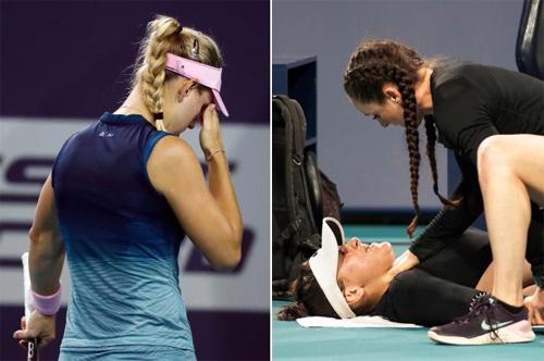 Kerber không hài lòng về đối thủ Andreescu. Ảnh: AP.