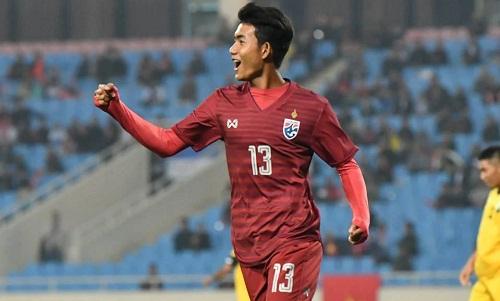 Suphanat là tài năng trẻ sáng giá của bóng đá Thái Lan hiện nay. Ảnh: Changsuek.