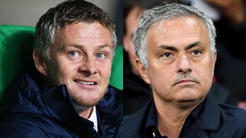 Solskjaer và Mourinho tạo ra hiệu ứng khác nhau ở Man Utd. Ảnh:AFP.