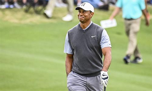 Woods là một trong bốn golfer Mỹ giành quyền đi tiếp ở Dell Match Play năm nay. Ảnh: Golf Channel.