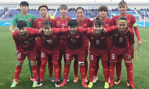 Tuyển nữ Việt Namkhởi đầu thuận lợi ở vòng loại thứ hai Olympic 2020. Ảnh: VFF.