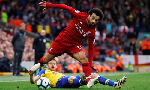 Liverpool đè bẹp Southampton 3-0 trên sân nhà ở lượt đi. Ảnh: AFP.