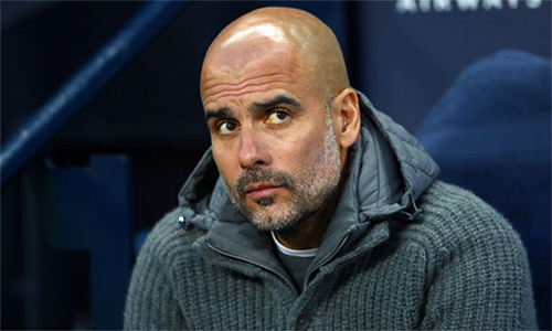 Guardiola không tin đội nhà có thể đăng quang ở cả Ngoại hạng Anh, Champions League vàCup FA. Ảnh: Man City.