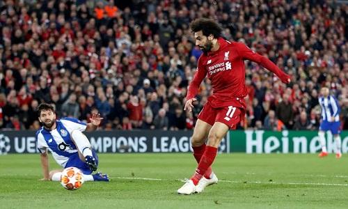 Salahcó cơ hội ghi bàn trong hiệp một nhưng bỏ lỡ. Ảnh: Reuters.