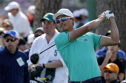 Li Haotong có tới sáu birdie ở vòng mở màn Masters năm ngoái. Ảnh: Reuters.