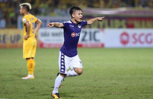 Quang Hải sẽ đá chính khi Hà Nội tới làm khách của Khánh Hòa ở vòng 5 V-League 2019. Ảnh: Lâm Thỏa