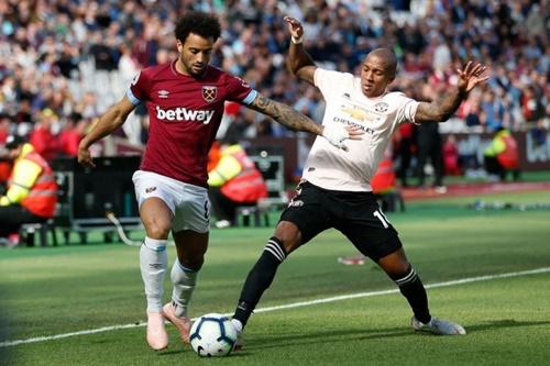 Man Utd từng thua West Ham 1-3 ở lượt đi. Ảnh: Reuters.