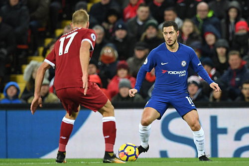 Chelsea đang có thành tích tốt trên sân Anfield. Ảnh:Reuters.