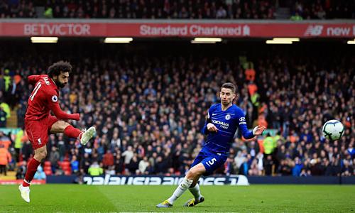 Salah chứng tỏ phẩm chất ngôi sao với bàn thắng ở trận cầu quyết định. Ảnh:Reuters.