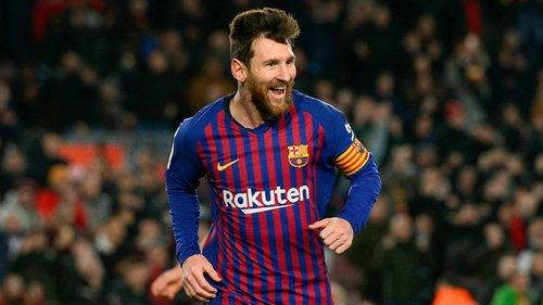 Messi sẵn sàng cho trận tái đấu Man Utd. Ảnh: AFP.