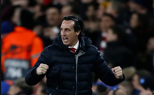 Giành vé trở lại Champions League là thành công với Emery trong năm đầu tại Arsenal. Ảnh:Reuters.