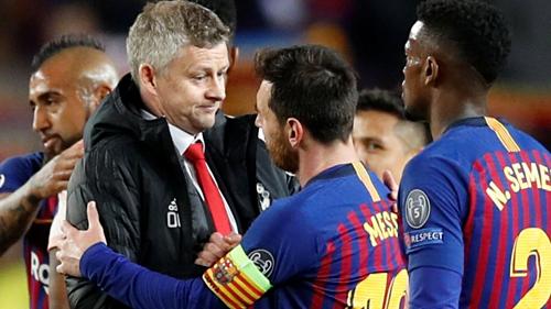 Solskjaer bày tỏ sự thán phục Messi nhưng ông hiểu sự khác biệt giữa Man Utd và Barca không đơn thuần là một cá nhân. Ảnh:AFP.