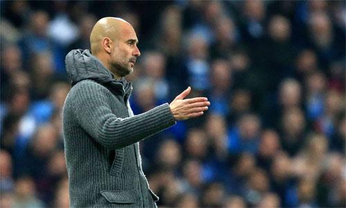 Pep Guardiola chưa từngthành công tại Champions League sau khi chia tay Barca. Ảnh: Reuters