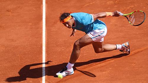 Nadal bước vào tứ kết Monte Carlo với thành tích 70 trận thắng ở giải Masters 1000 đầu tiên trên mặt sân đất nện.