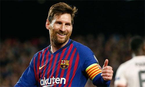 Messi đang có 45 bàn trong 42 trận trên mọi đấu trường từ đầu mùa. Ảnh: Reuters