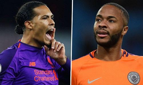 Van Dijk và Sterling dẫn đầu cuộc đua giành giải thưởng cầu thủ hay nhất của bóng đá Anh năm nay. Ảnh: Goal.