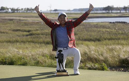 C.T. Pan là golfer thứ 14 lần đầu vô địch PGA Tour tại RBC Heritage. Ảnh:AP.