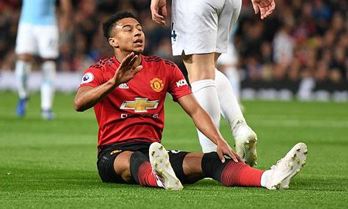 Lingard bỏ lỡ nhiều cơ hội ngon ăn cho Man Utd. Ảnh: DM.