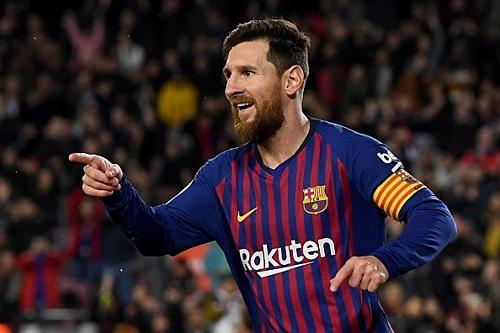 Messi đã ghi 33 bàn ở La Liga mùa này giúp Barca chuẩn bị lên ngôi vô địch. Ảnh:Reuters.