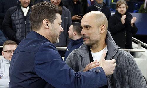 Pochettino (trái) thua hai trong ba trận gần nhất gặp Guardiola, nhưng lại giành vé vào bán kết Champions League. Ảnh: Reuters.