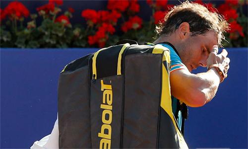 Nadal có nguy cơ lỡ Madrid Mở rộng. Ảnh: AFP.