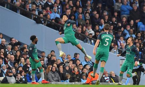 Liệu Son có thể giúp Tottenham bay cao như ở trận tứ kếtgặp Man City. Ảnh: Reuters.