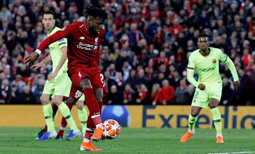 Origi ghi bàn ấn định tỷ số 4-0 ở lượt về. Ảnh: Reuters.