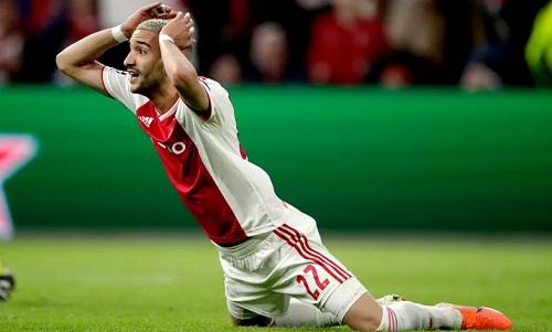 Những pha bỏ lỡ của Ziyech trong hiệp hai khiến Ajax nhận kết cục nghiệt ngã. Ảnh: Soccrates.