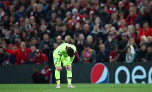 Một trận thua khiến mùa giải của Barca trở nên u ám. Ảnh: Reuters