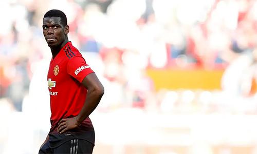 Pogba là cầu thủ đi bộ trên sân nhiều nhất mùa này, theo Sky Sports. Ảnh: PA.