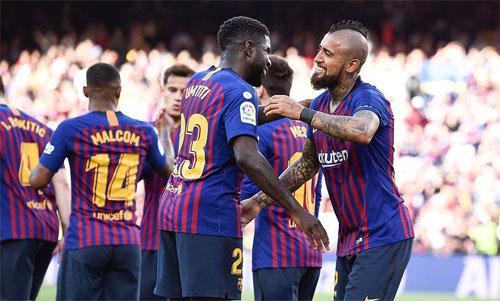 Barca tìm lại được nụ cười. Ảnh: Reuters